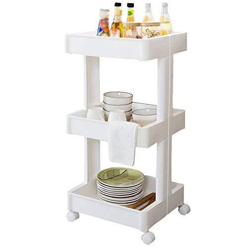ZXL Opbergrek, keukenrek, multifunctioneel, bespaart ruimte. Eenvoudig kruidenrek, fruitopslagrek, afneembaar opbergrek, bodemhouder, witte kunststof, 39 x m & times, 36 & times, 7 stuks