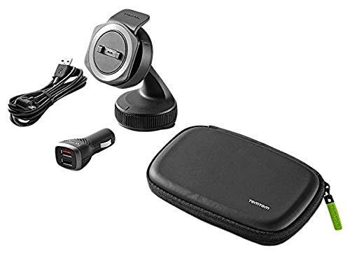 Oferta de Soporte Tom Tom Rider para coche para todos los navegadores GPS de moto de TomTom, incluido el cargador dual de alta velocidad, el cable y la funda (consulte la lista de compatibilidad a continuación)