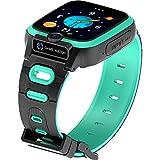 shjjyp Smartwatch Niños Acuatico Pulsera Actividad Inteligente Reloj Inteligente para Niños Niñas Mujer Impermeable IP67 Deportivo Smartwatch con Podómetro Pulsómetros Monitor De Sueño,Verde