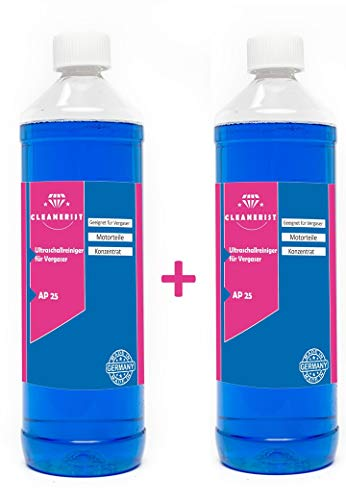 Die Seifenblase 2x1 Liter Ultraschallreiniger für Vergaser Konzentrat für alle Mikuni-, Keihin-, Hitachi- und Teikei-Vergaser HD-Gerät