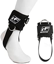 RitFit Padded Ankle Strap for Cable Machine,Strong Hook and Loop,Reinforced 3 D-Ring, Adjustable Comfort fit Neoprene - Premium Ankle Cuffs to Enhance Abs, Glute & Leg Workouts(Pack of 1)