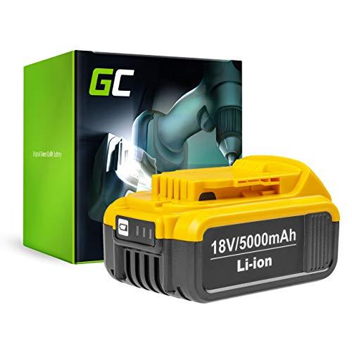 GC (5Ah 18V Li-Ion) DCB180 DCB181 DCB182 DCB183 DCB184 DCB185 DCB186 DCB200 DCB201 DCB203 DCB204 DCB205 XJ XR Batteria per DeWalt DCD771C2 DCD776 DCD796P2 DCF880 DCF885 DCF899P2