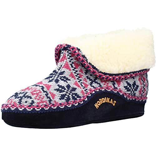 Nordikas Zapatillas Casa Mujer EDELWEIS para Mujer Azul 38 EU