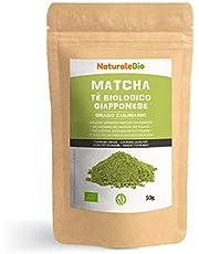 Biologische Matcha Thee in poeder [CULINAIRE KWALITEIT] 50 gram. Bio Japanse Groene Matcha-Thee. Geproduceerd in Uji, Kyoto in Japan. Ideaal voor desserts, smoothies, melk en in als ingrediënt.