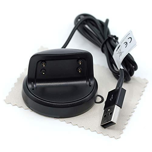 Cable de carga compatible con Samsung Galaxy Gear Fit2, Gear Fit 2 Pro, cargador USB, cable de carga OTB con paño de limpieza de pantalla Mungoo
