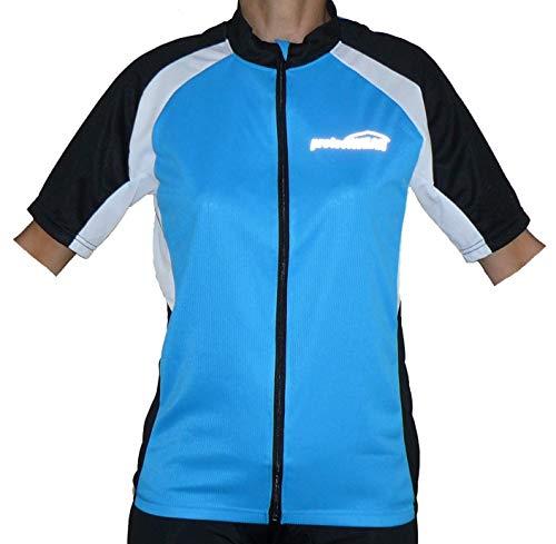Protectwear Maillot de vélo, le vélo chemise à manches courtes, bleu / noir / blanc, Taille: XL