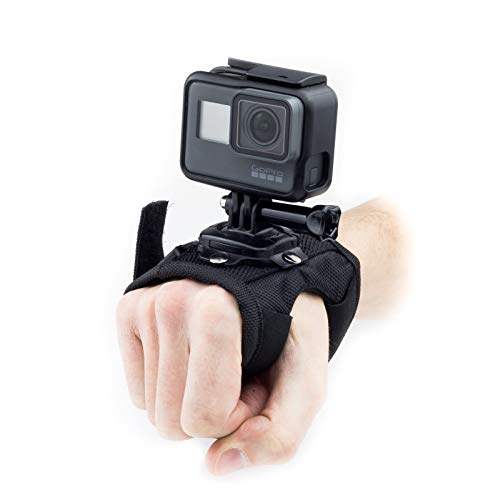 Digicharge Action Camera Hand Mount Wrist Strap Compatible for GoPro Hero Fusion Akaso Brave Apeman EKEN H9R Fitfort Crosstour Davola Dragon Touch Jeemak YI Cam HD Fitfort Sony Camkong Victure Go Pro