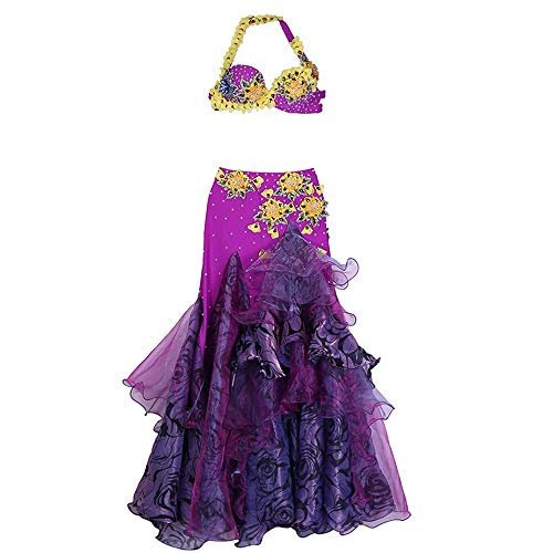 Lisansang Vestido de Baile Latino Belly Dance Costume Belt Mujeres Profesionales Belly...