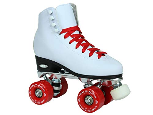 Epic Skates Classic High-Top Quad Roller Skates with Red Wheels