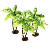 Wakauto - Cocotero de plástico con forma de pastel de palmera para plantas bonsái, artesanía, paisaje, casa de muñecas, bricolaje, decoración de resina