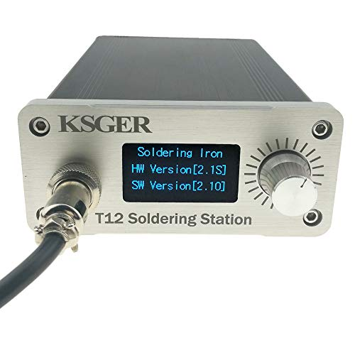 KSGER OLED T12 Soldering Iron Station STM32 V2.1S T12 Tips DIY Kits Temperature Controller Electronic Welding Iron Tips FX9501 Handle Case Power Equipments Sting CNC Front Panel 110V Welding Tools