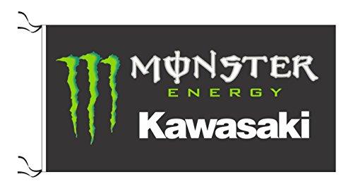 Kawasaki Monster Flagge Schwarz