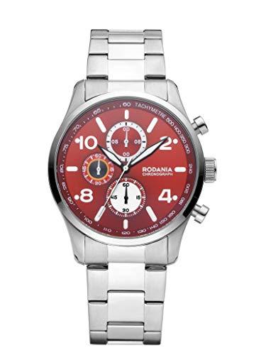 Rodania Reloj Hombre Classics Motola con Correa de Acero Plata de diámetro 42mm-2625844