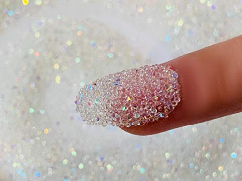 EIMASS Druzy Diamond Dust 3D Nail Art Crystals - Swarovski Alternative Gems (Crystal AB)