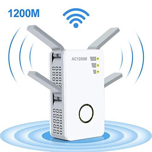 YANGUANG AC1200 WLAN Repeater/WLAN Verstärker (Dual-WLAN AC+N, 5Ghz / 867 Mbit/S Und 2.4 Ghz / 300 Mbit/S) Einfache Einrichtung Mit WPS, Kompatibel Mit Den Meisten Routern