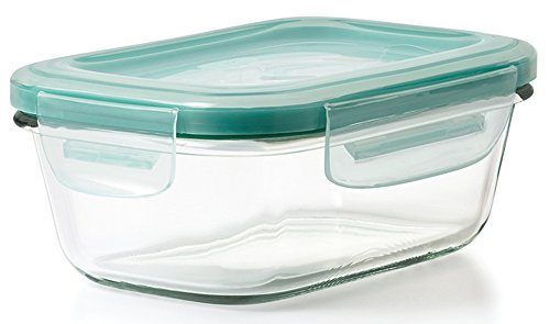 OXO Good Grips 1.6 Cup Smart Seal Leakproof Glass Rectangle Food Storage Container