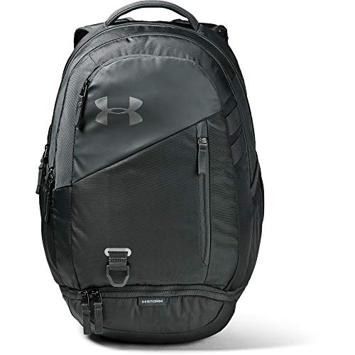 Under Armour Adult Hustle 4.0 Backpack , Pitch Gray (012)/Silver , One Size