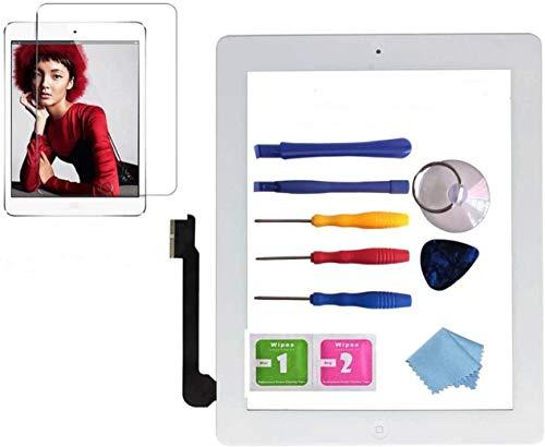 NewHail Touchscreen Digitizer für iPad Air 2 Glas 2 Generation weiß A1566, A1567 mit Bildschirmschutzfolie, Bedienungsanleitung & Reparatur Werkzeugset