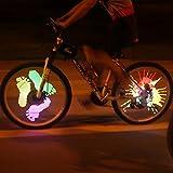 128 RGB LED Bicycle Spokes Lights Color Changing Programmable Waterproof Bicycle Light Spoke Wheel Light Bike Light Lamp