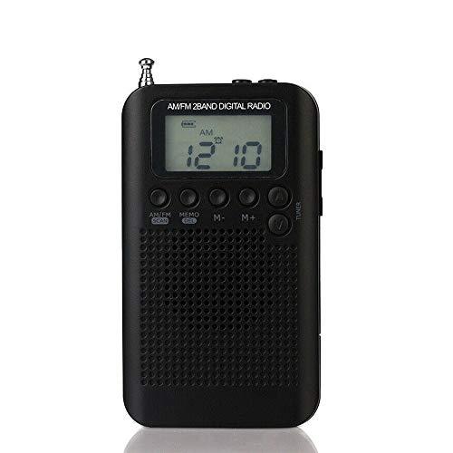 Radio estéreo digital portátil banda completa aire FM AM SW VHF CB receptor alarma JE