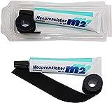 M2 Neopren Nahtband 25mm x 950mm Zum Aufbügeln Neoprenkleber 35ml Reparatur für Nähte Naht...