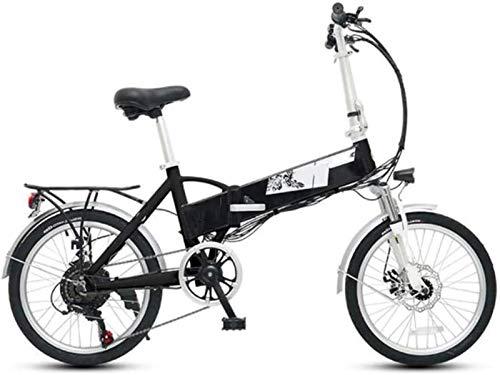 Alta velocidad Bicicletas plegables eléctricos 20 pulgadas de neumáticos, frenos de bicicletas for adultos de doble disco medidor inteligente de choque de bicicletas de la ciudad de absorción de ciclo