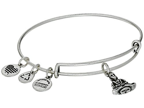 Alex and ANI Buddha Expandable Wire Bangle Rafaelian Silver One Size