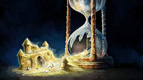 MASQKDY 1000 Piezas Madera Rompecabezas Castillo De Reloj De Arena Rompecabezas para Adultos Ocio Juguetes para Niños Decoración del Hogar Regalos De Arte.75*50