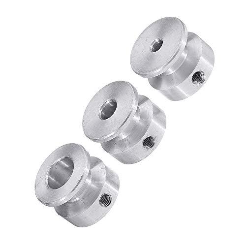 Riemenscheibe mit 20 mm, 4/5/6/8/10 mm, feste Bohrung, Riemenscheibe für Motorwelle, 6 mm Riemen (8 mm)