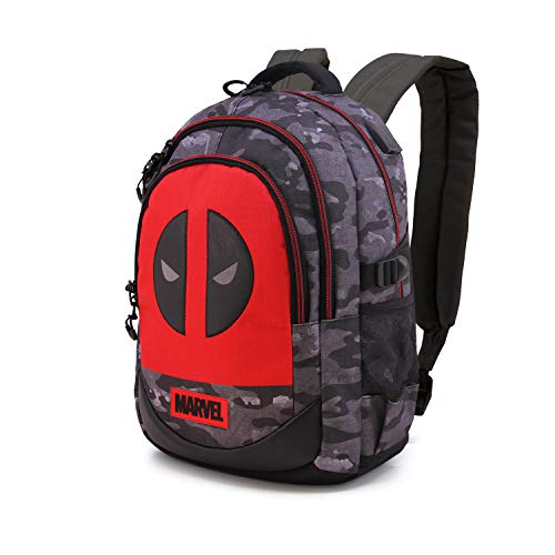 Karactermania Deadpool Rebel - Mochila Running HS 1.2, Multicolor