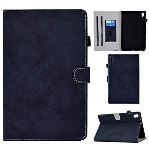 WHWOLF Diseñado para Lenovo Tab M10 HD (2ª generación) Funda TB-X306F/X 10.1' Wallet Case Cover Cover Flip Stand Flip Stand PU Leather -dblue