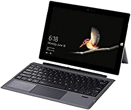 Bluetooth 3.0 Wireless Keyboard with Touchpad for Microsoft Surface Pro 3/4/5/6/7 Portable Tablet Flip Stand Built in Battery Type C Charging Keyboard