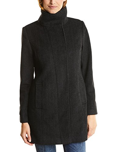 Street One Damen 100219 Serena Mantel, Black, 44