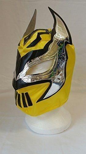 GELB - Lucha Drachen SIN CARA Kinder Wrestling Masken