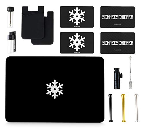 1x Schneeschieber für Schnupftabak BALLER.STORE 3X Premium Ziehröhrchen inkl