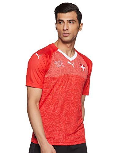 PUMA Camiseta de la Selección de Suiza, Hombre, Rojo, L