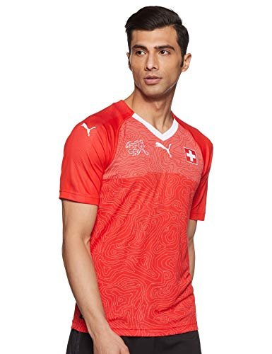 PUMA Herren Suisse Home Shirt Replica Red White, XXL