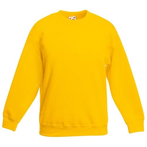 FRUIT OF THE LOOM Kids Classic Set in Sweatshirt Jumper SS201 56 Years Sunflower