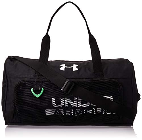 Under Armour Boys' Armour Select Duffle, Black (001)/White, One Size Fits All