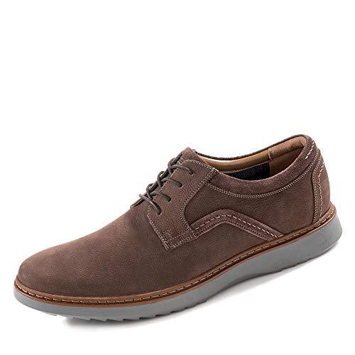 Clarks Un Geo Lace, Zapatos de Cordones Derby Hombre, Marrón (Dark Brown Nubuck), 42.5 EU