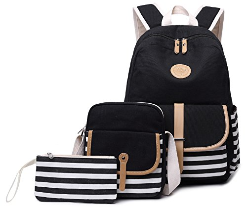 BLUBOON Canvas Middle School Backpack for Girls