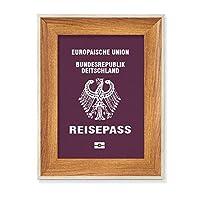 観光国ドイツ語 デスクトップ木製フォトフレームディスプレイアート絵画セット