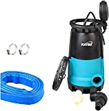 KATSU 900W Portable Submersible Garden Pump for Clean and Dirty Water 18000L/h with 10 Meters Hose 1.1/4' and...
