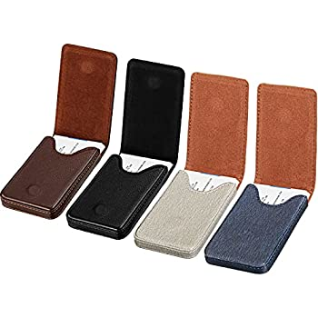 4 Pieces Business Card Case RFID Blocking Wallet Credit Card Holder Minimalist PU Leather Slim Flip Name Card Wallet with Magnetic Shut for Men Women 4 Colors