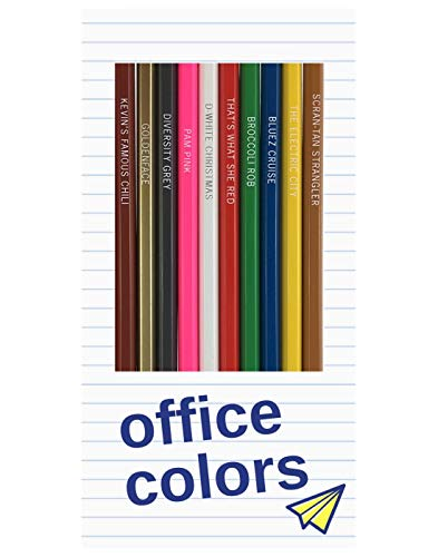Office Colors: 12 'The Office' TV Parody Colored Pencils