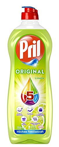 Pril 5 Original Limette, Spülmittel, beseitigt starke Verschmutzungen (14 x 750 ml)