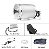 BLDC 72V 3000W Brushless Motor Kit with Hard Start 50A Controller and Foot Pedal Throttle Accelerator for Electric Scooter E Bike Engine Motorcycle DIY Part Conversion Kit