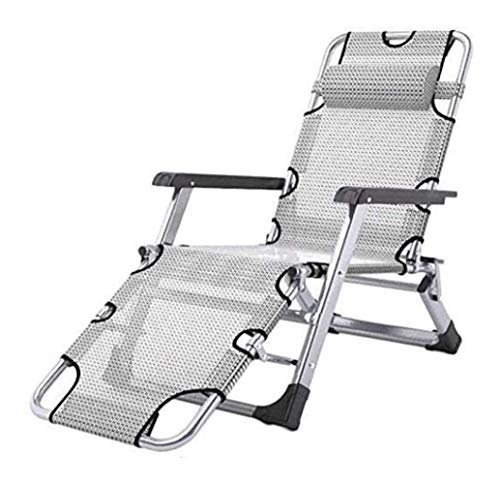 MWPO Patio Lounge Chairs, Sun Lounger Chair Recliner Nap Folding Recliner Office Lunch Rest Chair Outdoor Leisure Home Beach Chair Afternoon Rest Chair Garden Furniture