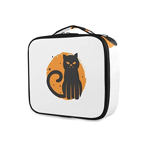Montoj Spooky - Bolsa de maquillaje para mujer, diseño de gato de Halloween