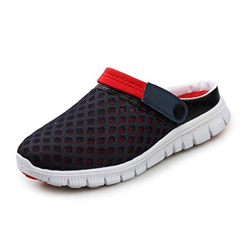Yying Unisex Hausschuhe Damen Schuhe Herren Sommer Clogs Atmungsaktiv Hausschuhe Home Slipper Shoes Freizeit Outdoor Schuhe Gartenscuhe Pantoffeln Strandschuhe Beach Sandalen Rot 45